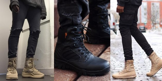 Модные ботинки в стиле милитари осень-зима 2019/2020