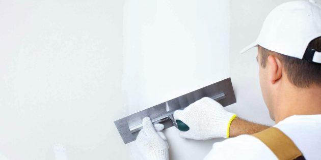 Как выровнять стены шпаклёвкой