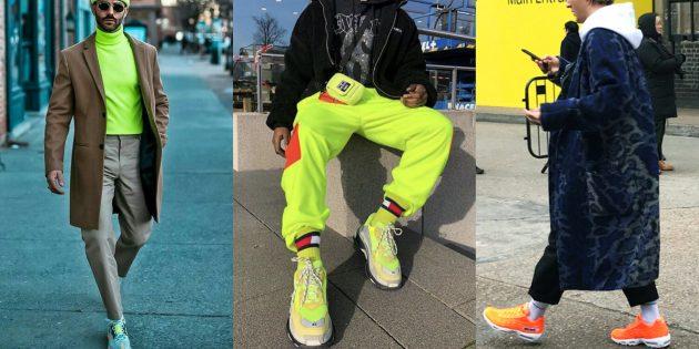Мужская мода — 2019: неоновые акценты