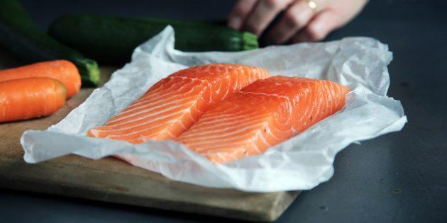 В каких продуктах витамин В: лосось