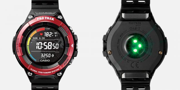 умные часы Casio с пульсомером