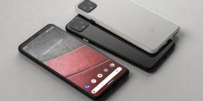 Google Pixel 4 показали на фото: экран без «чёлки», три камеры и стеклянный корпус