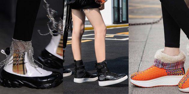 Модная обувь осени и зимы 2019–2010 с отчётливо спортивной резиновой подошвой