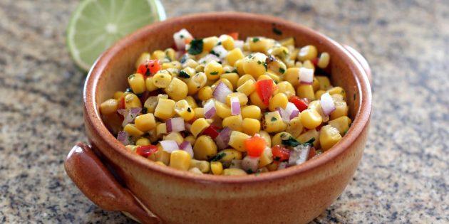 Соус сальса с кукурузой, болгарским перцем и мёдом