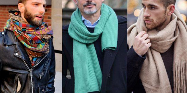 Мужская осенняя мода — 2019: объёмные шарфы