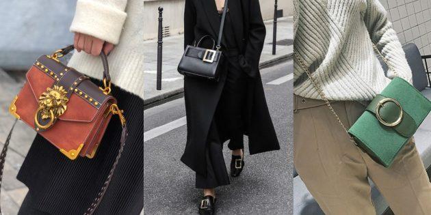 Модные тенденции осени-зимы 2019: сумки с крупными пряжками