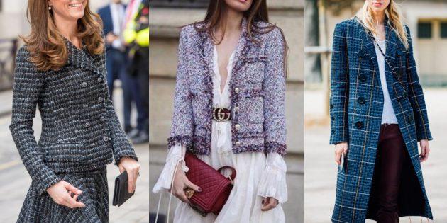 Мода осень 2019: одежда из твида