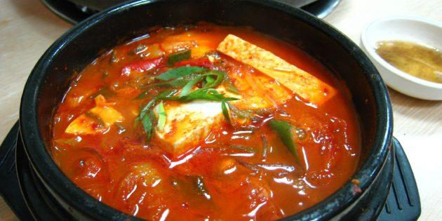 Корейская кухня: кимчи тиге