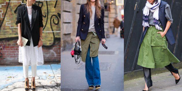 Мода осень 2019: платья и юбки в сочетании с брюками