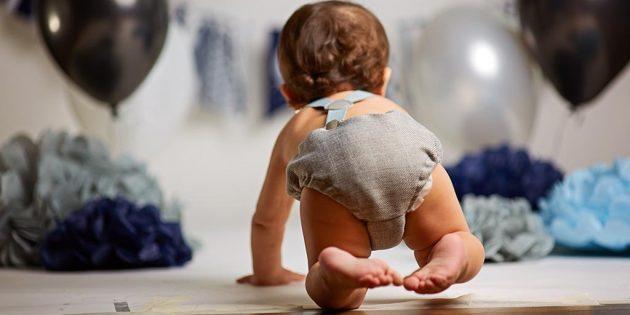 Во сколько дети начинают ползать стилем «краб»