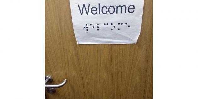 Приветствие для слепых в школе