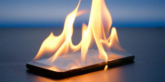 Android 10 защитит смартфон от возгорания во время зарядки