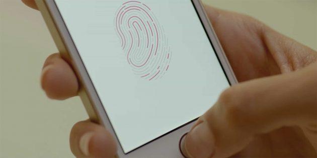 Apple выпустит iPhone с Touch ID в экране