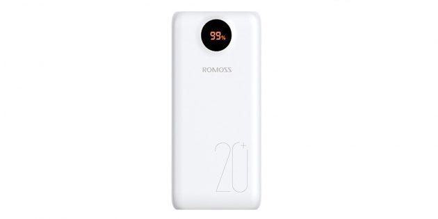 Внешний аккумулятор Romoss SW20PS+