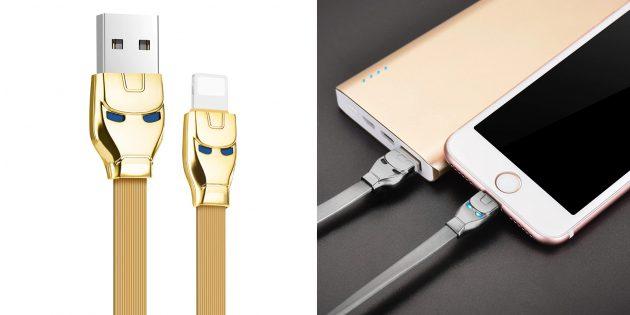 Зарядные кабели для iOS: Hoco Lightning