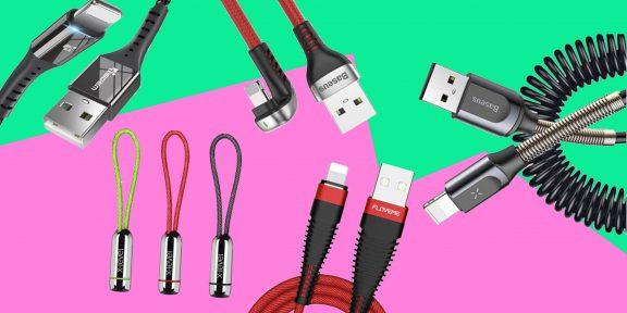 20 качественных зарядных кабелей для Android и iPhone