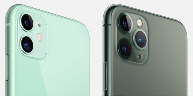 отличия iPhone 11: камеры
