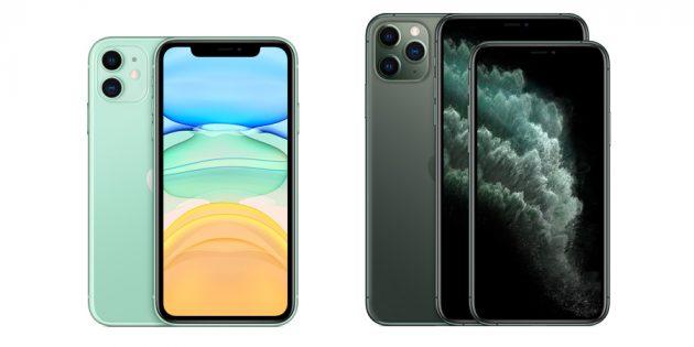 отличия iPhone 11: экраны