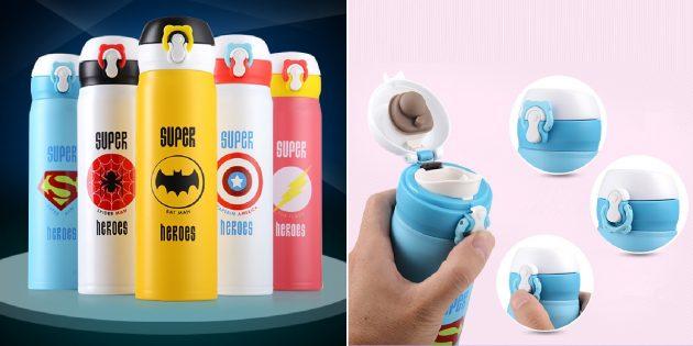 Термокружка с супергероями