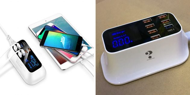 CDA19Q Smart USB Charger Station