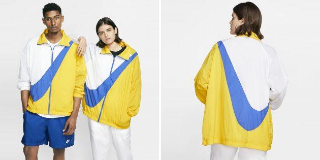 Куртка из тканого материала с логотипом Swoosh