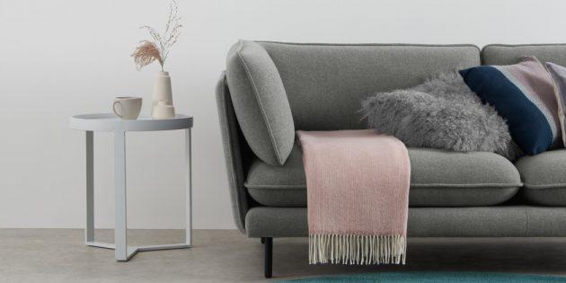 Скандинавский стиль в интерьере: вязаные текстуры
