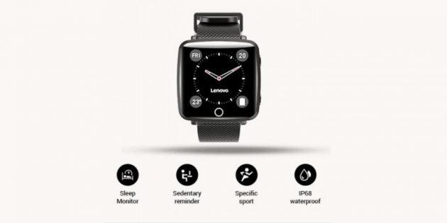 Умные часы Lenovo Carme с классическим циферблатом