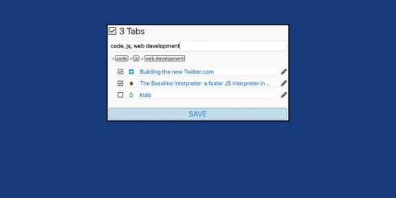 Ktab — менеджер закладок для Chrome с удобной сортировкой по тегам