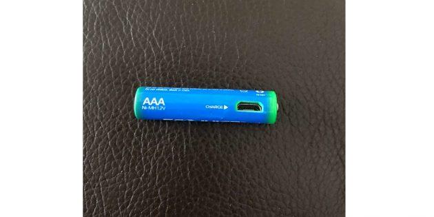 многоразовая батарейка с USB