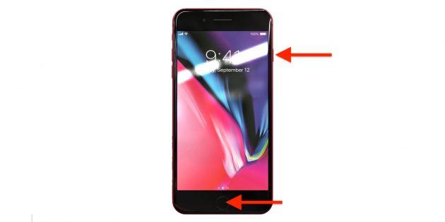 Как сделать скриншот на телефонеiOS