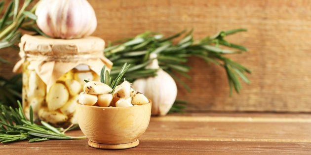 Рецепт маринованного чеснока с хмели-сунели