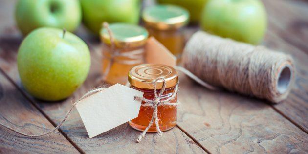 Яблочное повидло с имбирём и лимоном