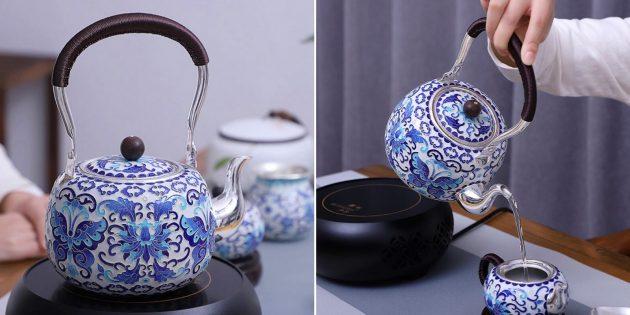 Серебрянный чайник