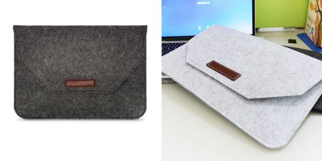 Фетровый чехол для ноутбука