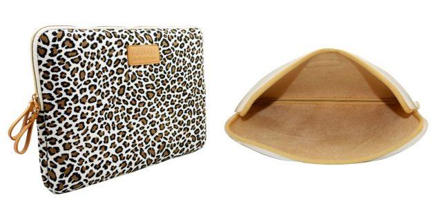 Леопардовый чехол для ноутбука