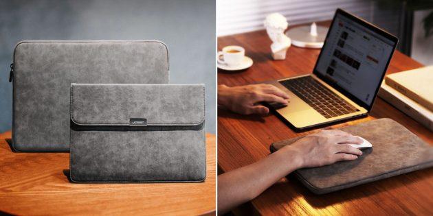 Чехол для ноутбука с ковриком для мыши