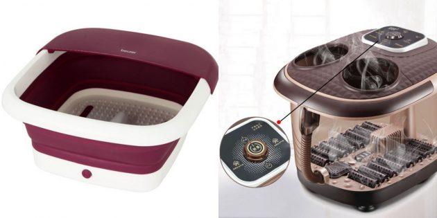 Что подарить папе на день рождения: электрическая ванночка для ног с функцией массажа