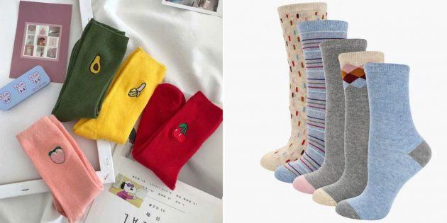 что подарить бабушке на день рождения: забавные носки