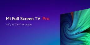 Xiaomi анонсировала телевизоры Mi Full Screen TV Pro. Они безрамочные и поддерживают 8K
