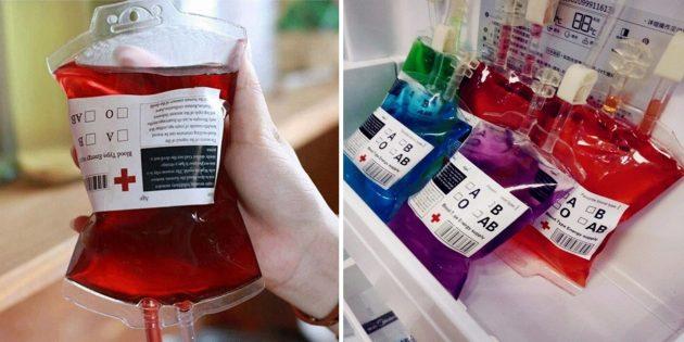 Пакетик с кровью
