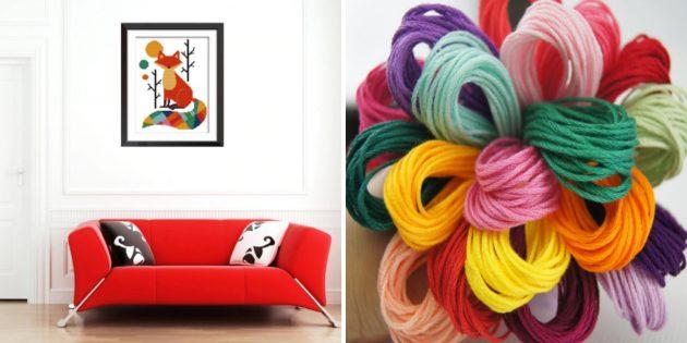 Наборы для творчества: вышивка с лисой
