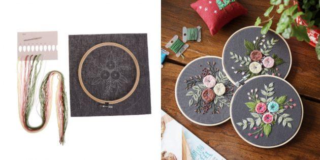Наборы для творчества: цветы в пастельных тонах