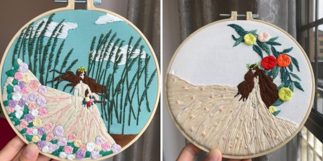 Наборы для творчества: вышивка с принцессой