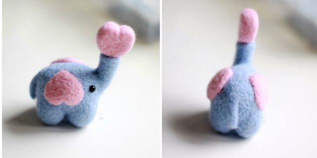 Слоник к сердечком