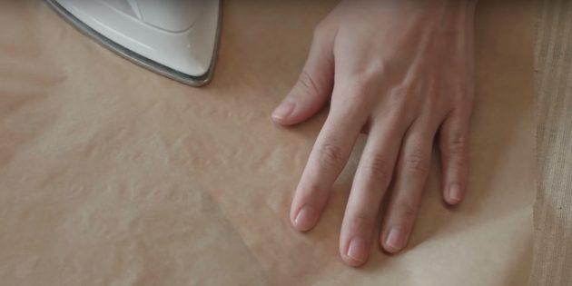 Люстра своими руками: прогладьте шпон через пергамент