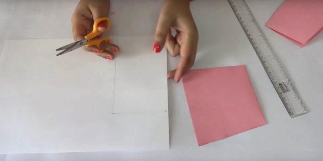 Открытка на день рождения своими руками: вырежьте белую деталь