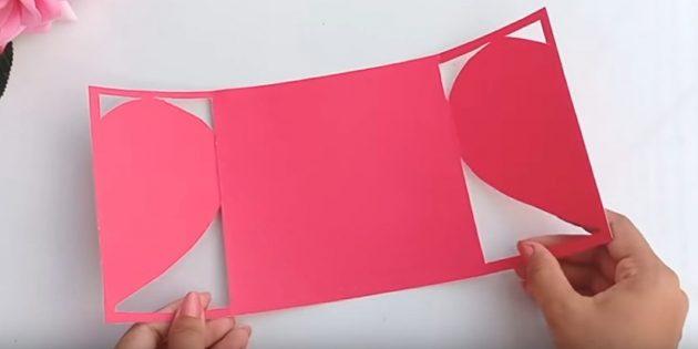 Открытка на день рождения своими руками: разрежьте бумагу по линиям с обеих сторон