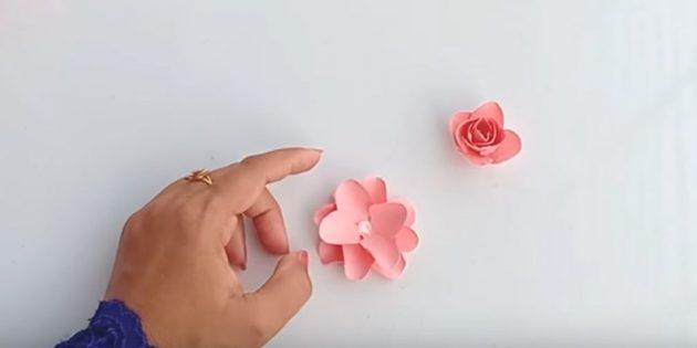 Открытка на день рождения своими руками: склейте вырезанные детали, чтобы получился пышный цветок