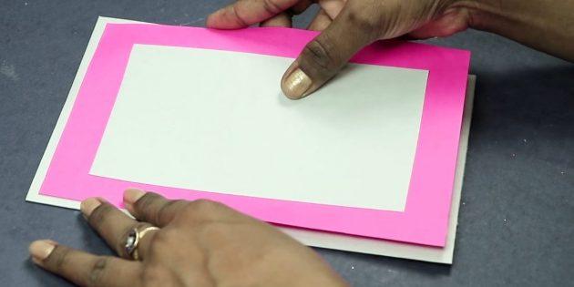 Открытка на день рождения своими руками: сделайте основу открытки