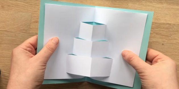 Разверните полосы и раскройте бумагу